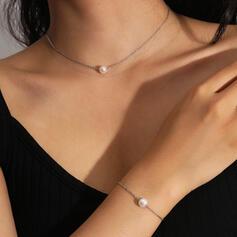 Sexy Vintage Classic Map Design Alloy Imitation Pearls With Imitation Pearl Women's Ladies' Necklaces Bracelets 2 PCS