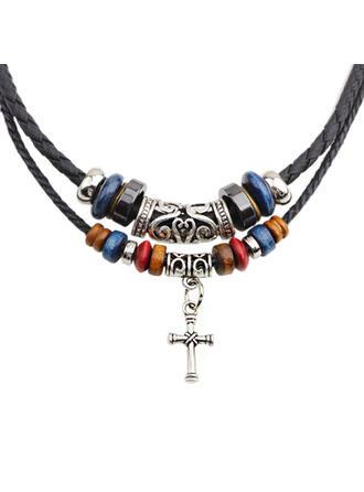 Unique Romantic Alloy Cow Leather Women's Ladies' Unisex Girl's Necklaces