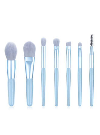 8 PCS Shell Design Handle Microfiber Makeup brush sets With OPP Bag