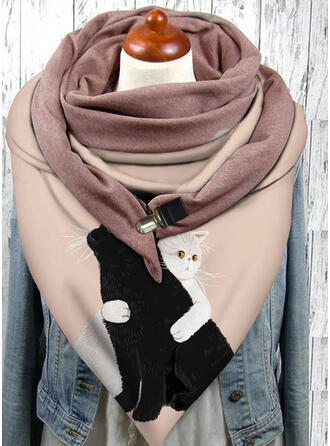 Animal/Print fashion/Black Cat Scarf