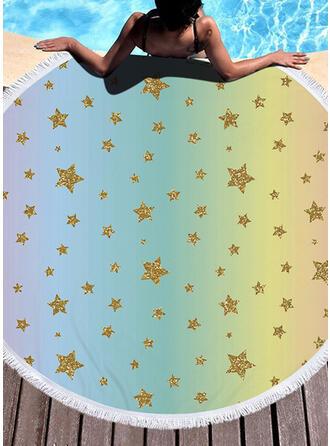Tassel/Bohemen/Gradient kleur/Dierenprint/Kleurrijk lichtgewicht/Multi-functionele/Kleurrijk/Zandvrij/Sneldrogend/Dier Ontworpen strandlaken