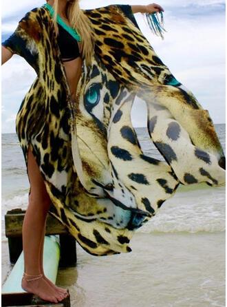 Dierenprint V-hals Mooi Aantrekkelijk Het oog Springende Badjassen Badpakken