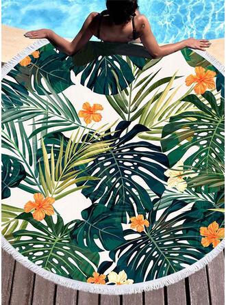 Bloemen aantrekkelijk/mode/vers strandlaken