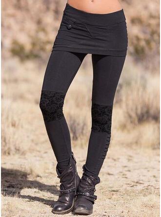 Solide Grote maat Elegant Sexy Leggings