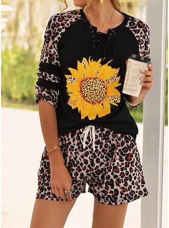 Print Leopard Casual Print Suits