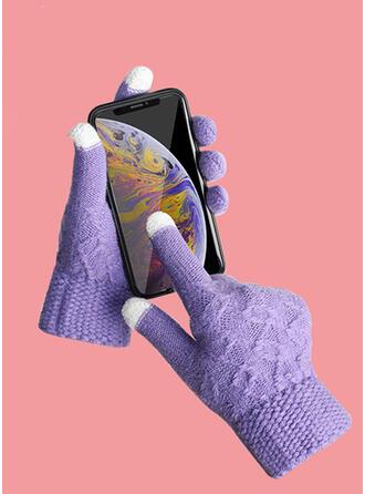 Effen kleur/haak Koud weer/Multi-functionele handschoenen