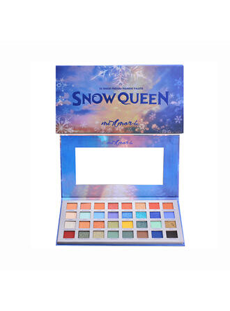 32-color Shimmer Eyeshadow Palette With Box