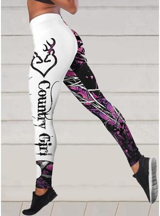 Print Shirred Sexy sportieve Yoga Leggings
