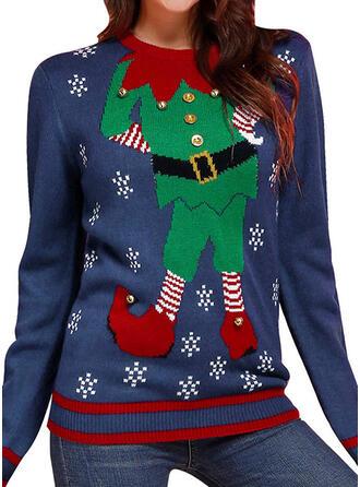 Dames Polyester Spotprent Lelijke kerstsweater