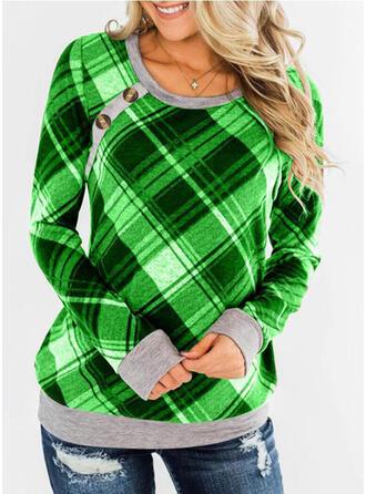 Color Block rooster Ronde nek Lange Mouwen Sweatshirts