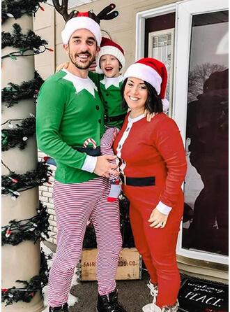 Streep Print Voor Gezinnen Kerst Pyjamas