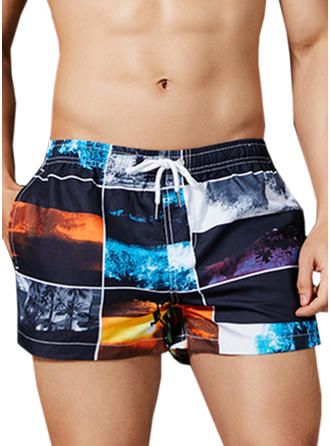 Men's Print Swim Trunks