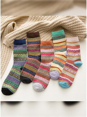 Gestreept/Bohemen/Kleurrijk Warme/Ademend/Comfortabel/Crew sokken Sokken (Set van 5 paren)