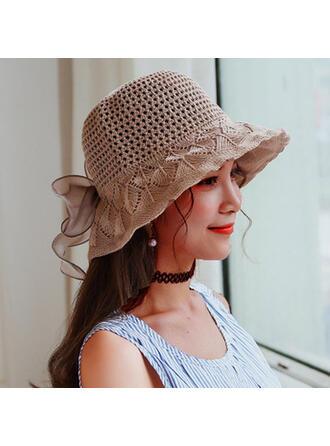 Women's Elegant/Charming/Artistic Linen With Flax Fedora Hats