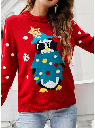 Women's Print PolkaDot Ugly Christmas Sweater