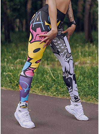 Print Lang Casual sportieve Yoga Leggings