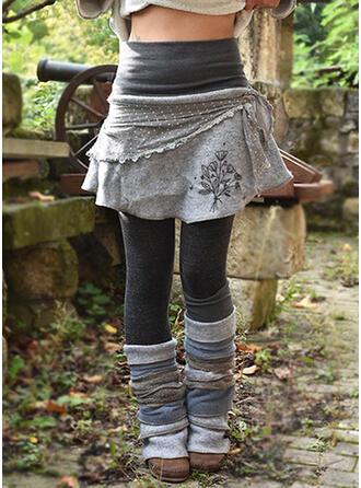 Lapwerk Print Grote maat Casual Elegant sportieve Leggings