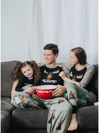 Kleur-Blok Hert Letter Voor Gezinnen Kerst Pyjamas
