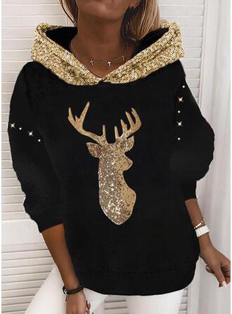 Sequins Long Sleeves Christmas Sweatshirt