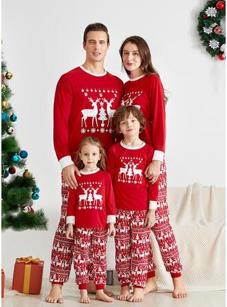 Rendier Letter Voor Gezinnen Kerst Pyjamas