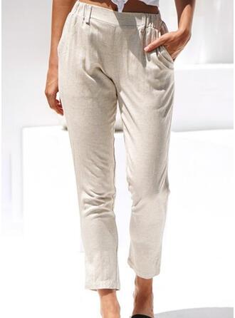Zakken Shirred Lang Casual Elegant Broeken