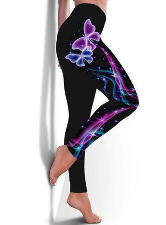 Print Grote maat Lang Casual sportieve Yoga Leggings