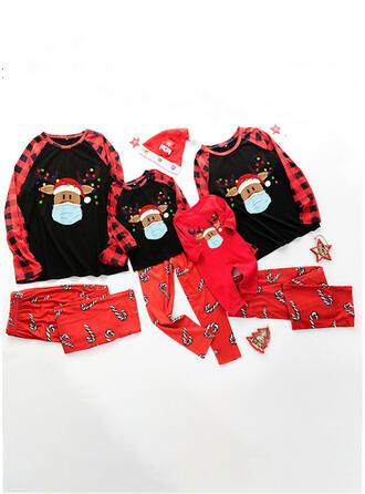 Rendier Hert Print Voor Gezinnen Kerst Pyjamas