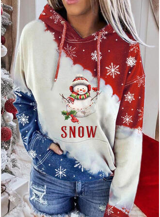 Print Figure Long Sleeves Christmas Sweatshirt