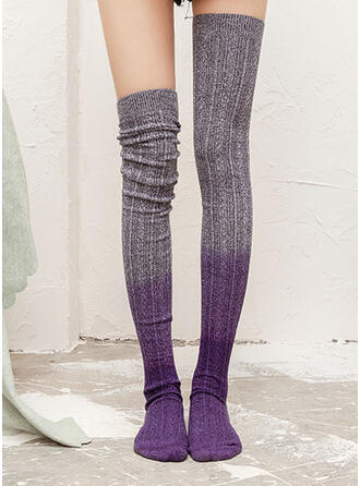 Gradient color/Stitching Warm/Comfortable/Women's/Knee-High Socks Socks/Stockings