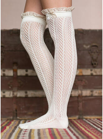 Effen kleur/Hechten Warme/Comfortabel/Knie hoge sokken Sokken/kousen