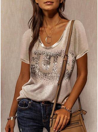 Figure Round Neck Short Sleeves T-shirts