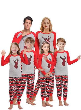 Rendier Kleur-Blok Voor Gezinnen Kerst Pyjamas