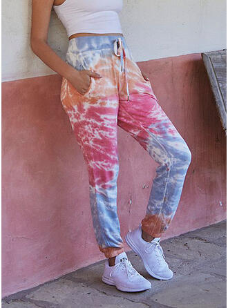 Tie Dye Drawstring Casual Sporty Lounge Pants