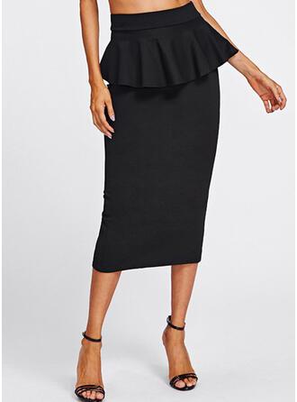 Cotton Plain Maxi Bodycon Skirts