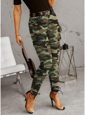 Plus Size Camouflage Casual Vintage Pants