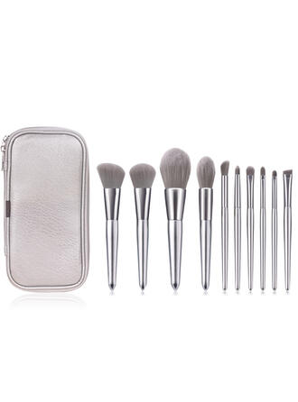 10 PCS Shell Design Handle Microfiber Makeup brush sets With OPP Bag