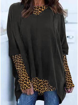 luipaard Ronde nek Lange Mouwen Sweatshirts