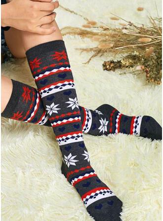 Print/Leaves Warm/Comfortable/Women's/Calf Socks Socks