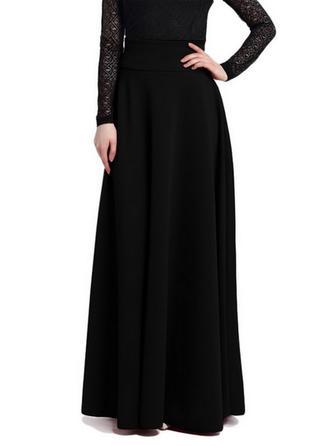 Rayon Plain Maxi A-Line Skirts