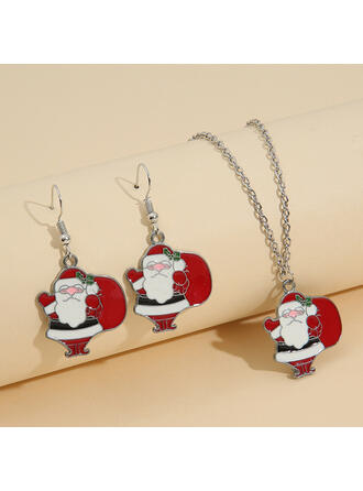 Charming Elegant Delicate Christmas Alloy Women's Ladies' Girl's Necklaces Earrings 2 PCS