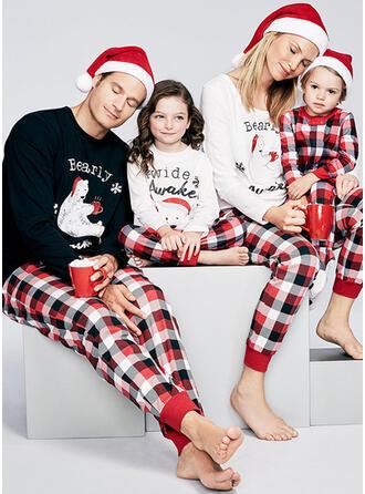 Plaid Print Passen bij Voor Gezinnen Pyjama