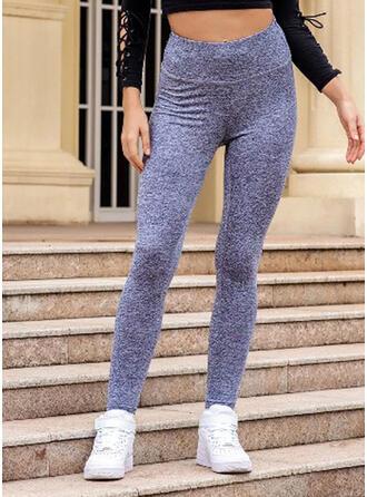 Solide Shirred Lang Casual Sexy Yoga Leggings