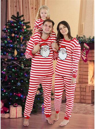 De Kerstman Streep Voor Gezinnen Kerst Pyjamas