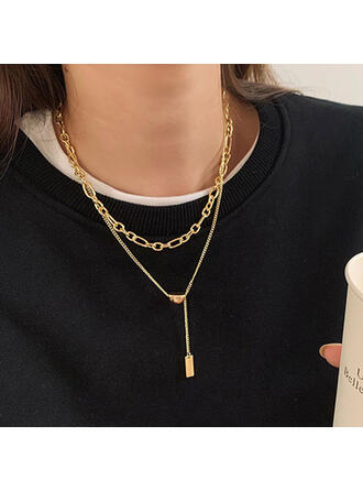 Alloy Metal Women's Ladies' Girl's Necklaces