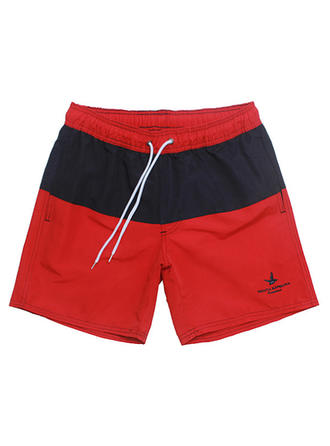 Men's Lined Drawstring Swim Trunks