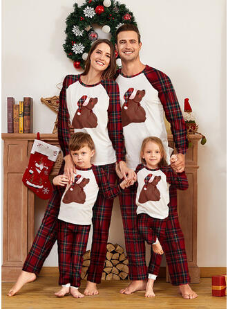 Plaid Print Voor Gezinnen Kerst Pyjamas