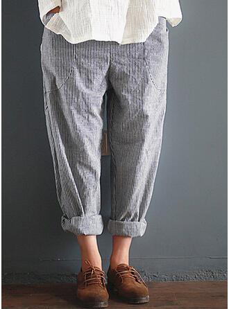 Streep Zakken Grote maat Casual Elegant Lounge broek