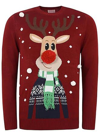 Uniseks Polyester Print Rendier Lelijke kerstsweater