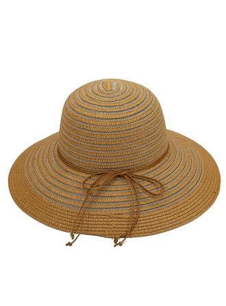 Ladies' Beautiful/Classic/Elegant Raffia Straw With Bowknot Straw Hats