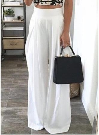 Zakken Shirred Lang Casual Elegant Sexy Broeken